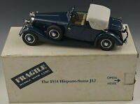 DANBURY MINT 1934 HISPANO-SUIZA J12 CAR 1:24 SCALE DIE CAST MIB #3