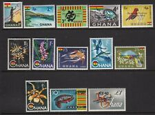 GHANA 1965 NEW CURRENCY SET LIGHTLY HINGED MINT