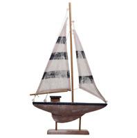 Tall Sailing Boat Nautical Decoration Seaside Bathroom Decor wooden Sail Gift