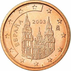 [#698813] Espagne, 2 Euro Cent, 2003, SPL, Copper Plated Steel, KM:1041