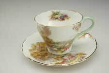 #23 Shelley Fine Bone China Tea Cup & Saucer - Heather 13419 - England