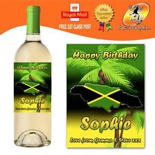 PERSONALISED JAMAICA CARIBBEAN WINE BOTTLE LABEL BIRTHDAY ANY OCCASION GIFT