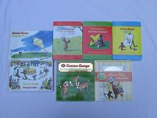Set of 7 Curious George Board Books - Includes a CD