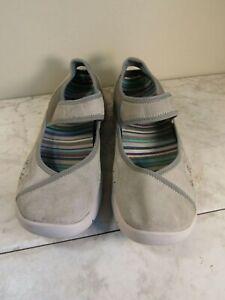 Dansko Emmy Suede Leather Gray Mary Jane Shoes Clogs Slip On Women's Size EU 41