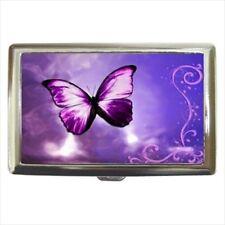 Purple Butterfly Cigarette Money Case