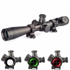 M1 3.5-10x40 Illuminated Mil-dot R/G Rifle Scope w/ 20mm Rail Mount Lens Cover