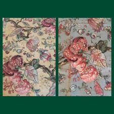 Vintage Hand-Screened Fabric - Westbury Munster - 2 Pcs - 1.38 Yards Each RARE