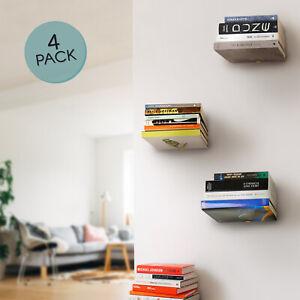 Floating Book Shelves, Black Invisible Bookshelf, Hidden Bookshelves - Metal, 4
