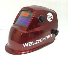 Weldsmart Auto-Darkening Welding Helmet (Red)