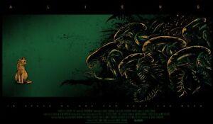 Aliens by Godmachine Screen Print Movie Poster Art MINT Mondo Alien