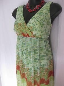SIZE 14 SMART FLATTERING BEAUTIFUL GREEN TEA DRESS