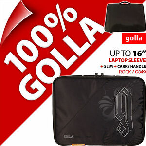 """Golla 16"""" for 15.6"""" 15.4"""" Brown Laptop Sleeve Bag Padded Carry Case Slim +Handle"""