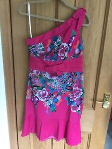 Gorgeous Pink Size 14 Karen Millen Oriental Style Dress