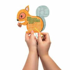 5 Animal Cross Stitch Kids CRAFT Beginners Sewing Gift Fox Squirrel Owl Xmas