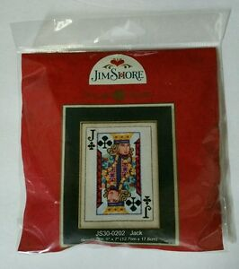 Jim Shore Jack of Clubs Cross Stitch Kit Gambling Poker Card Mill Hill Beads