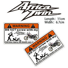 Funny Safety Warning Strip Motorcycle Sticker Decals for Honda Africa Twin