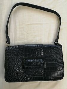 Nelly NLY Accessories Women's Black Perfect Buckle Bag Good Used Condition