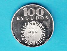 PORTOGALLO PORTUGAL 100 ESCUDOS DEL 1974 PROOF ARGENTO SILVER IN CAPSULA
