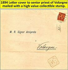 1894 mail cover to senior priest of Volargne di Dolce' with very nice stamp (20)