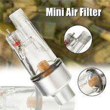 """MINI AIRBRUSH AIR FILTER Moisture Water Trap 1/8"""" Fitting Hose Paint Spray Gun"""