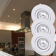 3 x spot LED luminaire éclairage lampe encastré DEL métal blanc chambre couloir