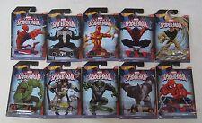 Hot Wheels 2014 Marvel Ultimate Spiderman Series Set of 10 Cars Venom Sandman ++