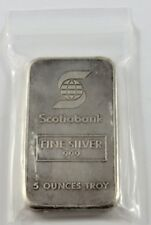 SCOTIABANK WITH JM BACK 5 OUNCE SILVER BAR SERIAL #003330 SEE PICTURES