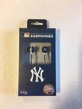 New York Yankees iHip Noise Isolating Earphones Earbuds - iPhone iPod NEW