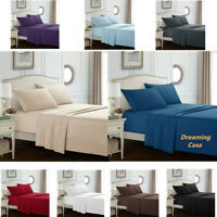 Egyptian Comfort 1800 Count 4 Piece Bed Sheet Set Deep Pocket Bed Sheets Set H3