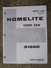 Homelite 3100G  Chain Saw Illustrated Parts List SEE LOTS MORE IN OUR STORE  U