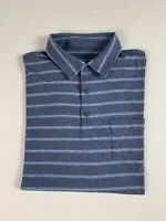 Patagonia Men's Polo Shirt Short Sleeve Striped Organic Cotton Size L