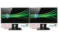 """2x 24"""" Cheap Gaming Monitor VGA TFT LCD Office Laptop Computer PC Dual Monitor A"""