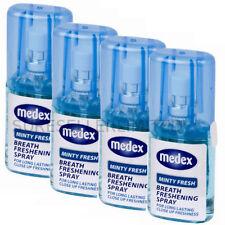 X 4 Calidad Superior Medex De 20ml Minty aliento fresco Boca Spray mal aliento nuz1