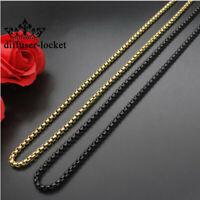 Fashion Titanium steel Gold&Black Square pearl necklace chain Gift For Men/Women