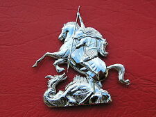 ST GEORGE AND THE DRAGON CAR EMBLEM Metal Badge *BRAND NEW & UNIQUE*