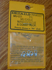 Details West HO #221 MU Cable w/Dummy Recept