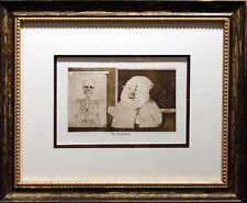 Charles Bragg The Anatomist Duotone Offset Lithograph Custom Framed Art Print