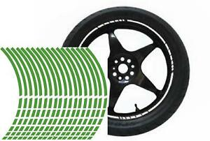 NEW wheel rim tape striping stripes stickers L GREEN..(36 pieces/8 per wheel)