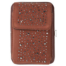 Kirks Folly Stardusted Galaxy Glam Cell Phone Case / Wallet  (Brown)