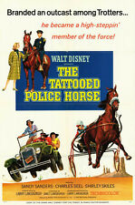 THE TATTOOED POLICE HORSE poster HARNESS RACING original1964 DISNEY movie 1sheet