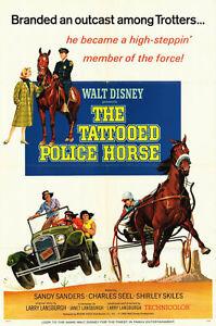 THE TATTOOED POLICE HORSE poster HARNESS RACING original1964 DISNEY movie 1sheet