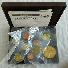 SWEDEN 2003 9 COIN EURO PROTOTYPE PATTERN PROOF SET - mint sealed