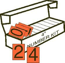 4 in ORANGE Vinyl Numbering Kit for Placards (50 of each - 1 thru 9)