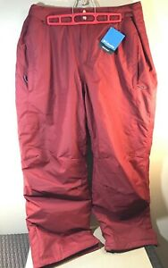 New Columbia Bugaboo IV Mountain Red Pants - Big - Size 1X Short Inseam