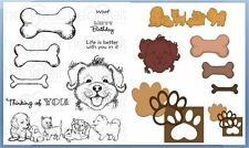 Lot Set Heartfelt Creations Die+Stamp Paw-Fect Pooches, HCD1-7116+HCPC3760