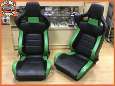 COPPIA BB6 Schienale Reclinabile Inclinabile secchio sedili Sportivi Nero/Verde Universal Design