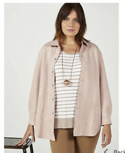 WynneLayers Faux Suede Shacket New Rose Medium Rrp £79 New Qvc