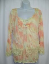 Cha Cha Vente Women's Cardigan Tank Set Top Blouse Sz: XL Yellow Orange
