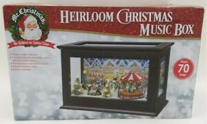 RARE Mr. Christmas Heirloom Lighted Village 70 Tune Multi-Action Music Box