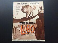 "Walt Disney's ""LOBO""  Movie Press Book  1962 15-Page"